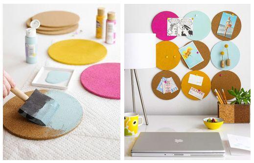 Kreativ mit #Kork. Hier ein Tipp, wie man sich seine eigene farbenfrohe Pinnwand bastelt. #Korkdesign