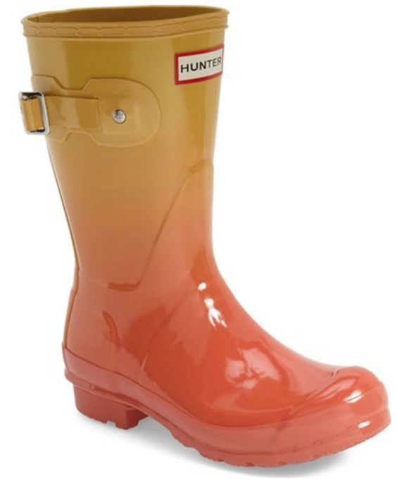 Hunter Wellies in Marigold Haze Ombre