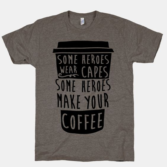 If your superpower is making coffee you just might be a  superhero barista. Show some love to your java brewing heroes with this awesome shirt celebrating coffee culture. Free domestic U.S. shipping on all orders of $50 or more.