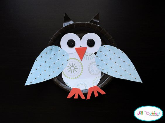 paper plate owls - These are the cutest plate crafts I've ever seen! ♥