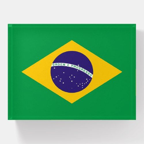 Paperweight With Flag Of Brazil Zazzle Com Brazil Flag Thoughtful Gifts Flag