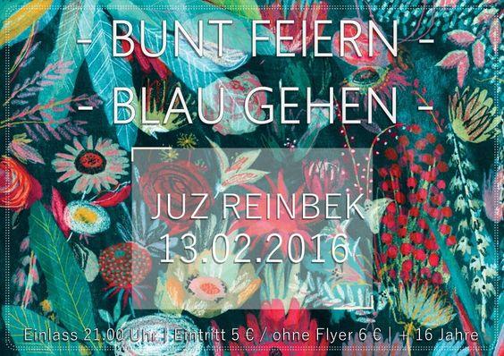 bunt feiern blau gehen abitur flyer flowers party school design