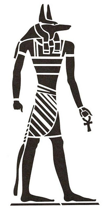 Anubis Stencil Feme Pinterest Stencils