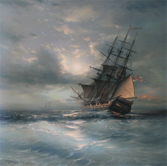 Marine painter Anton Sukhorukov | Ships | Pinterest | Anton and ...