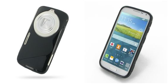 PDair Soft Plastic Case for Samsung Galaxy K Zoom SM-C115 (Black/S Shape pattern)