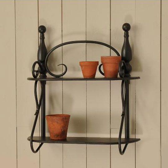black wrought iron shelf country home pinterest shelves nice and black. Black Bedroom Furniture Sets. Home Design Ideas