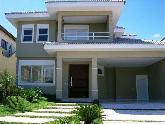 fachadas de casas de dos plantas pequeñas | Diseño de interiores ...