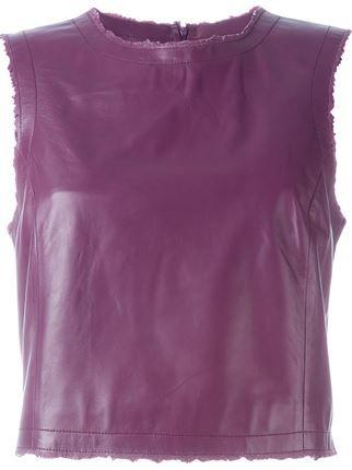 Drome leather tank top