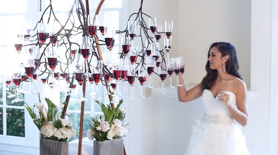 Have a wine tree at your wedding! #audreyalbafilms http://www.audreyalbafilms.com