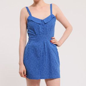 Strappy Collar Dress Blue, 65€, now featured on Fab.