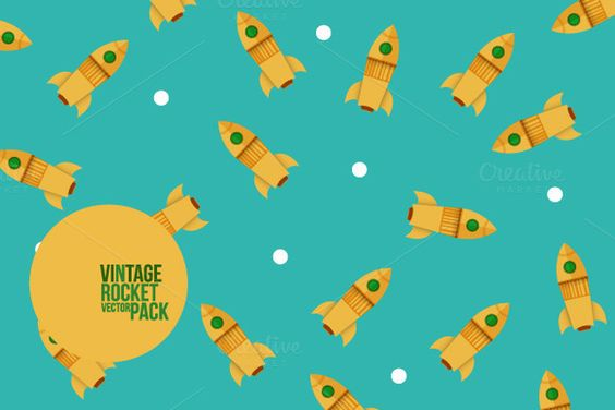 ROCKET COMPOSITIONS PATTERNS Vintage by Subcutaneo Creative Studio, via @Behance http://shop.subcutaneo.com