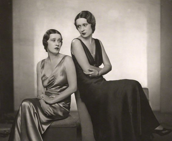 1932~Thelma (née Morgan), Viscountess Furness and her twin sister Gloria Vanderbilt (née Morgan)