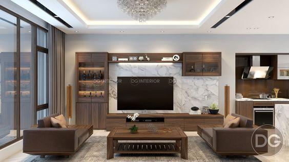 Thiết kế nội thất phòng khách 16m2 rộng thoáng, đầy sức sống