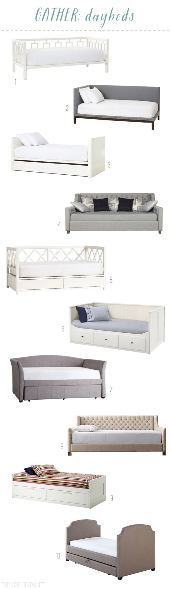 Daybed Round Up - The Inspired Room blog