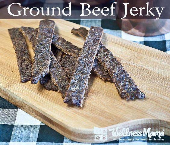 Ground Beef Jerky Recipe Wellness Mama Recipe Ground Beef Jerky Recipe Jerky Recipes Beef Jerky Recipes