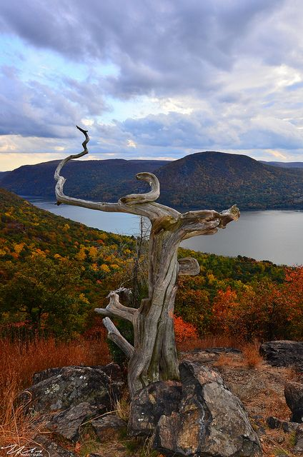 View from the Summit of Sugar loaf Mountain In Cold Spring, NY