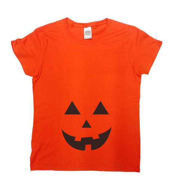 Jack O Latern Pregnancy T-Shirt - Great and Simple Halloween Costume!  Love this…