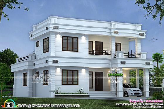 1145 Sq Ft 3 Bedroom Modern House Kerala House Design House Styles Modern House Plans