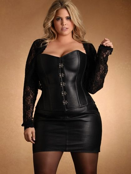Plus Size Lingerie | Plus Size Leather & Patent | Leather Skirt | Hips & Curves