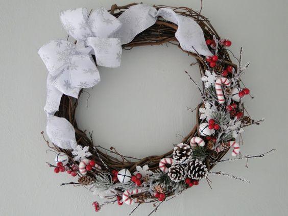 Winter wreath  Christmas wreath  Festive decor  by EnglishDelights