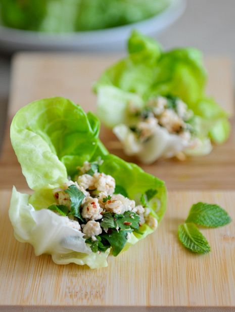 chicken lettuce cups fresh lettuce wraps chili limes chicken lettuce ...