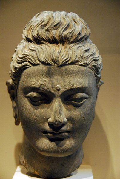 Head of the Buddha, Gandhara, 3rd century AD, schist- Arthur M. Sackler Gallery