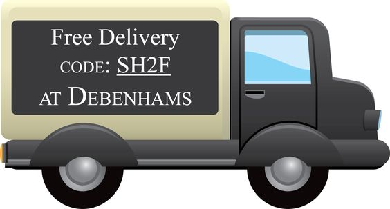 Use code SH2F at Debenhams for free standard delivery. Today only!