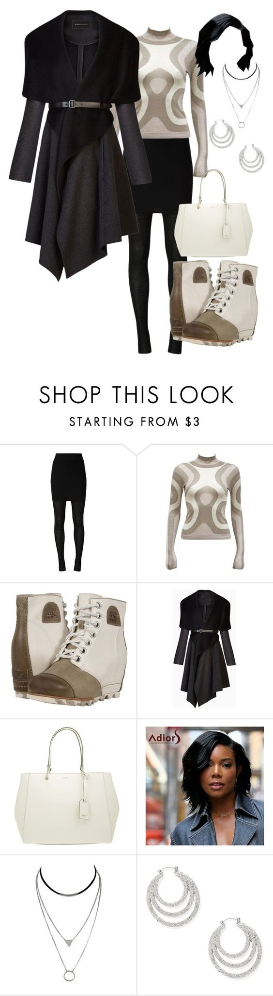 """Beige"" by geminificently ❤ liked on Polyvore featuring Dolce&Gabbana, Alexander McQueen, SOREL, BCBGMAXAZRIA, DKNY and Steve Madden"