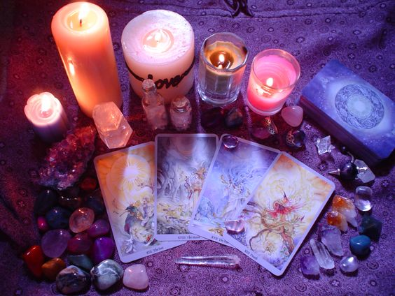 Image result for using candles and crystals fantasy