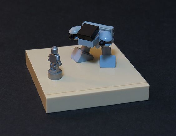 RoboCop and ED-209 square off at the smallest scale possible