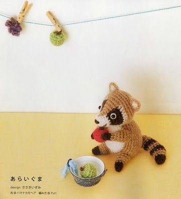 Amigurumi Raccoon Pattern Free : amigurumi free pattern Animals - squirrel, raccoon ...