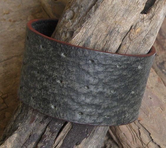 Leather Cuff, Mens Black Leather Cuff, Womens Bracelet, Black Leather Cuff, Leather Wrap Bracelet Cuff. $18.00, via Etsy.