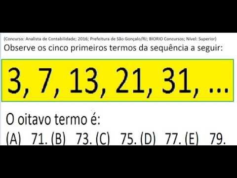 Curso Raciocínio Lógico Sequência de números Teste Psicotécnico Detran C... https://youtu.be/1-nH6IaXmP8