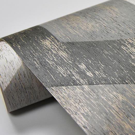 Bauhaus Distressed Wood Peel Stick Wallpaper Peel And Stick Wallpaper How To Distress Wood Mid Century Modern Patterns