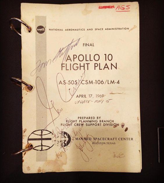 El plan de vuelo del APOLO 10 - 1969 @nasa