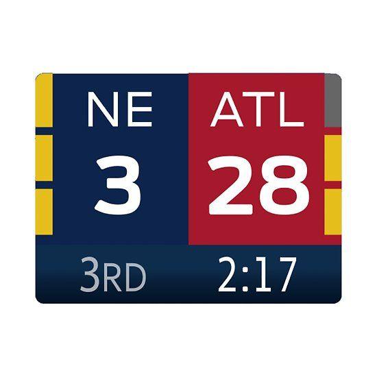 Patriots 28 3 Super Bowl Scoreboard By Pelcyyy95 Print Hardcover Journals Art Prints