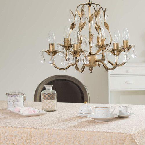 lustre en m tal dor lustre maisons du monde mdm romantique pinterest m taux. Black Bedroom Furniture Sets. Home Design Ideas