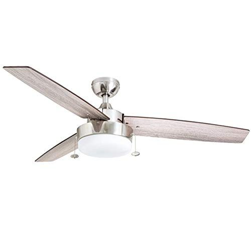 Prominence Home 51019 Statham Modern Farmhouse Ceiling Fan 52 Brushed Nickel Prominence Home In 2020 Farmhouse Ceiling Fan Ceiling Fan Ceiling Fan Makeover