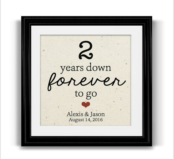 Wedding Gift Ideas For Second Marriage : ideas about Second Anniversary on Pinterest Second Anniversary Gift ...