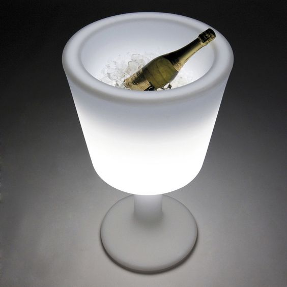 Adorn your space with a cool, oversized, and versatile wine glass. http://www.yliving.com/slide-design-light-drink-ice-bucket.html