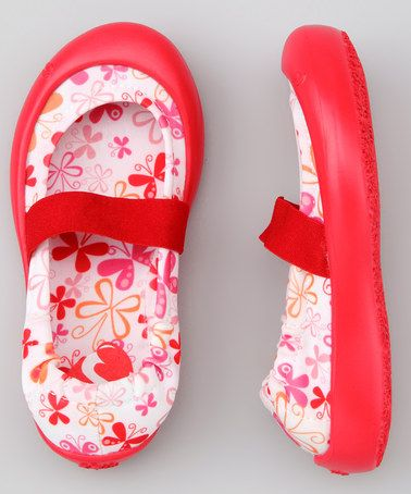 Take a look at this Scarlet Butterflies Flat by SWYT Culture on #zulily today!