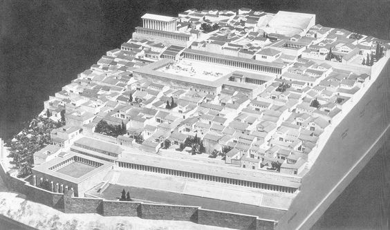 URBAN PLANNING; reconstructed model of Priene, c. 3rd ...