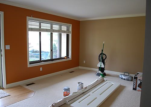 Light Brown Paint With Accent Wall Little Kitchen Window