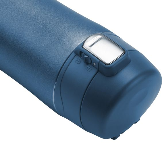 LifeSky coffee thermos model 1129 Blue - Lateral view