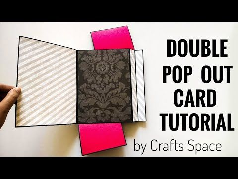 Double Pop Out Card Tutorial Easy Pop Up Cards Scrapbook Card Ideas Interactive Card Ideas Youtu In 2021 Pop Out Cards Stampin Up Birthday Cards Fun Fold Cards