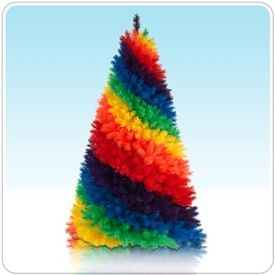 I'm Just A Rainbow Tree is one of our brightest and most attention-getting Christmas trees. We can't imagine why!