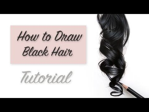 How To Draw Hair Tutorial Drawing Realistic Black Hair Youtube How To Draw Hair Hair Tutorial Hair Color For Black Hair