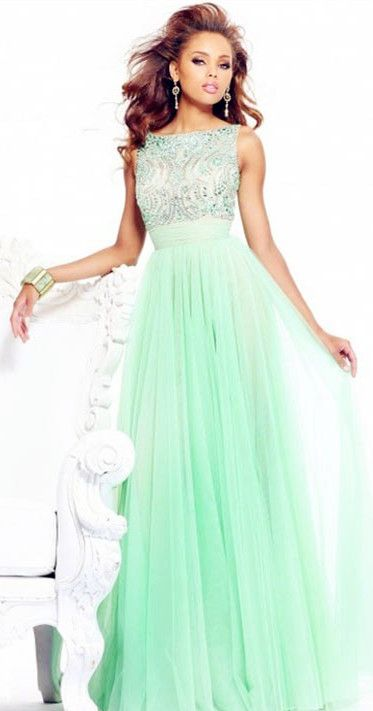 Green Prom Dress P A Pinterest Prom Dresses Chiffon