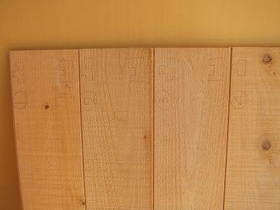 木陰手探りdiy ロフトの壁側と天井のつなぎ目となる羽目板を作成し