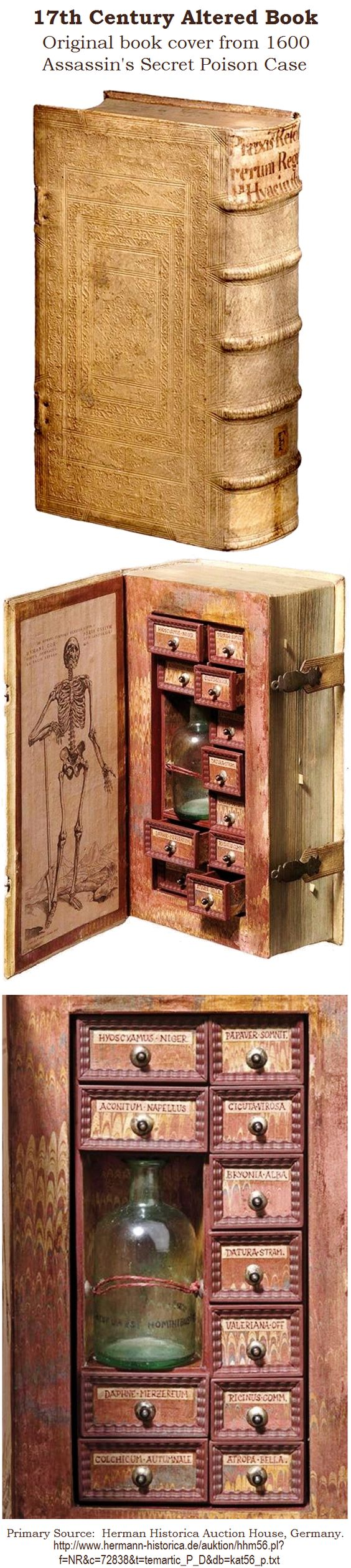 I know this is more of a home thing but I have a book on medieval torture and poisons...for reasons. It would be perfect. Or we buy a giant old atlas and make drawers to fill with our adventures